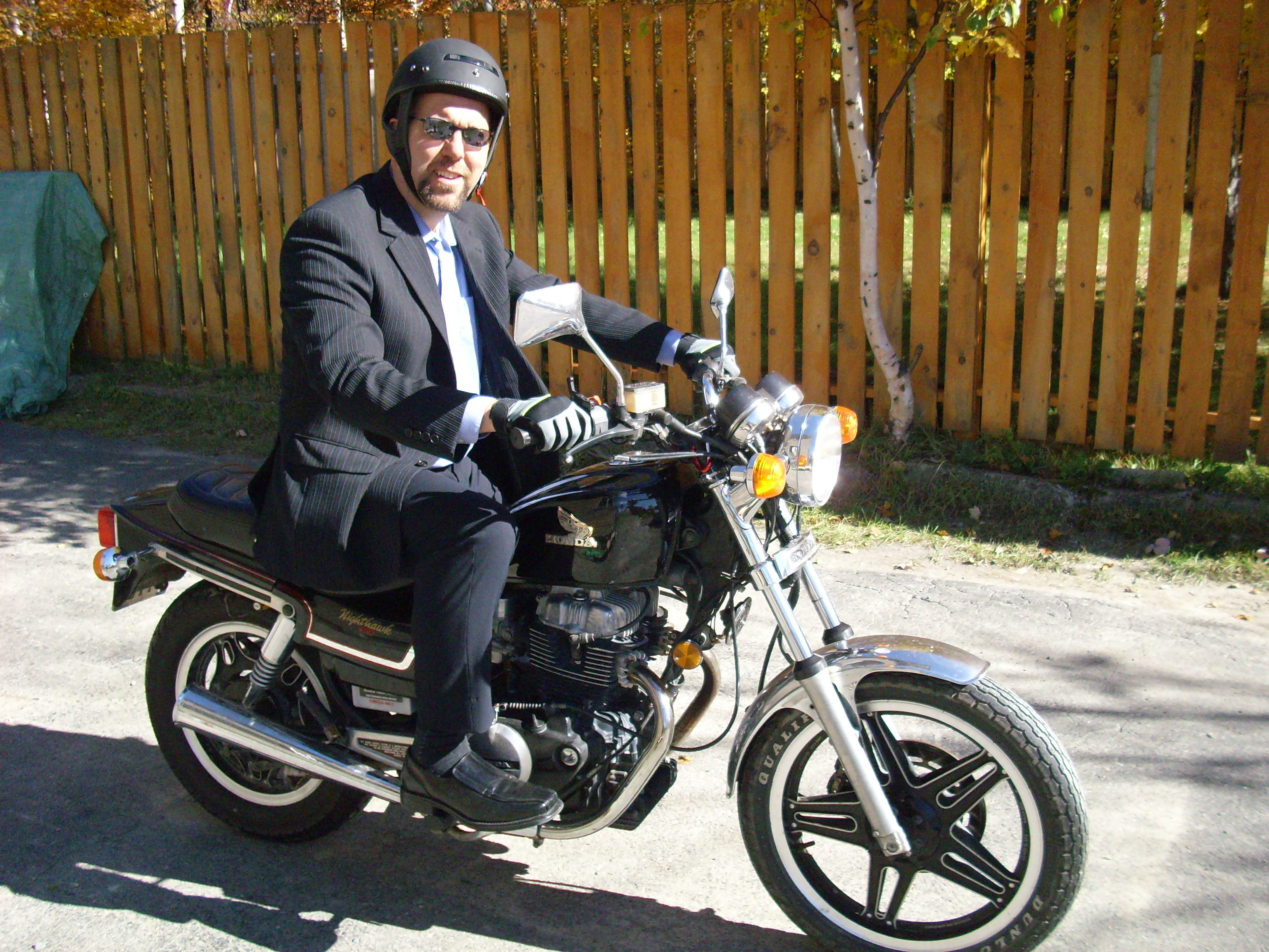 Motorcycle Preacher Living In The Moments 1982 Honda Nighthawk I Can Just Imagine Him Pulling Up To Church On His Everyone Smiling Including Fact He Probably Had Biggest Smile