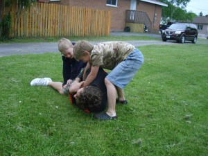 Football Boys Wrestle Josh
